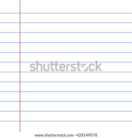 notebook paper background  - stock vector