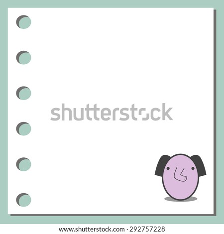notebook paper background -  Animal Design on Paper Background - stock vector