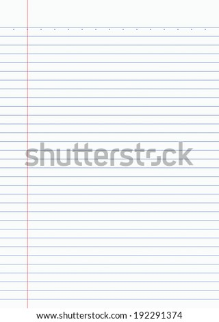Notebook paper background - Vector - stock vector