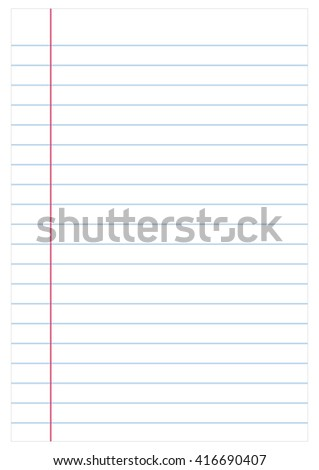 Notebook paper background, vector