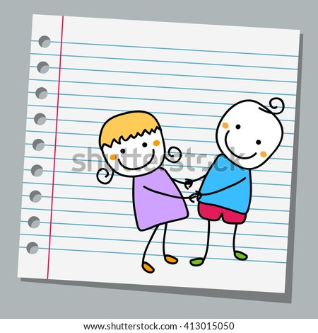 notebook paper cute couple