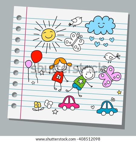 notebook paper happy summer day