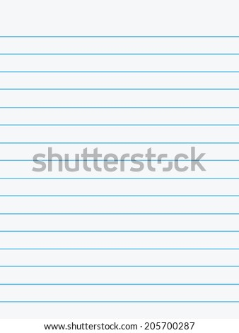 Notebook paper. Illustration on white background.