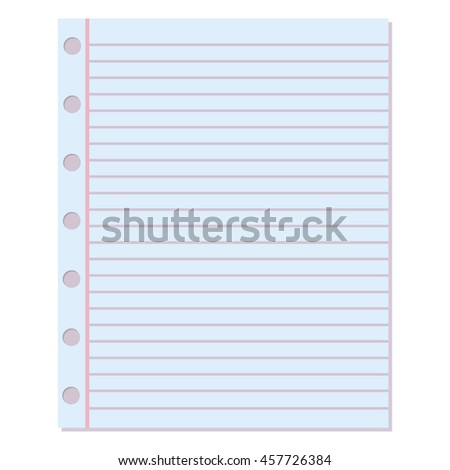 Torn Notebook Paper Isolated Stock Photos, Royalty-Free Images