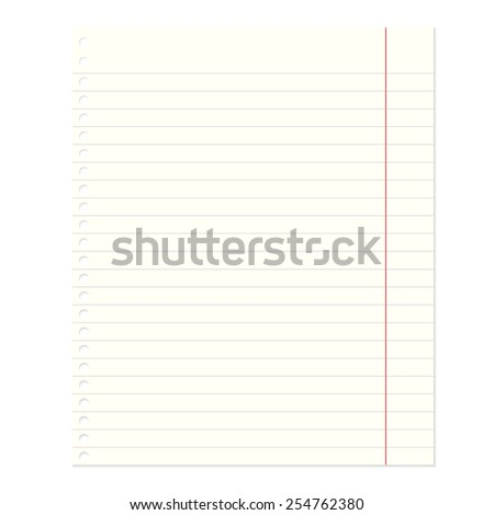 Notebook Paper. Vector illusatration