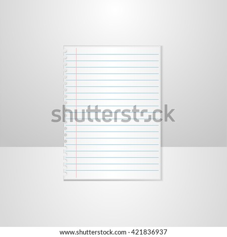 Ruled Paper Images RoyaltyFree Images Vectors – Lined Paper with Picture