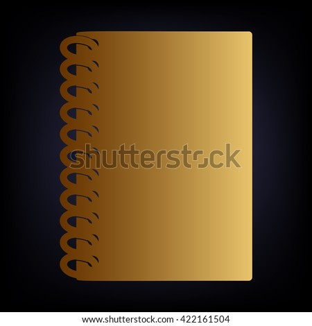 Notebook simple icon - stock vector