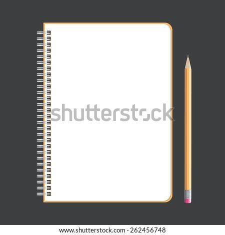 Notebook Vector Design - stock vector