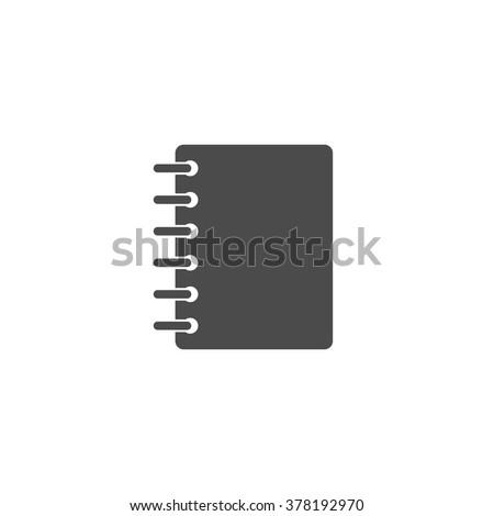 Notebook. Vector icon grey - stock vector