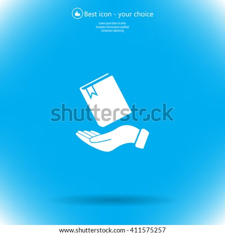 notebook vector icon on hand