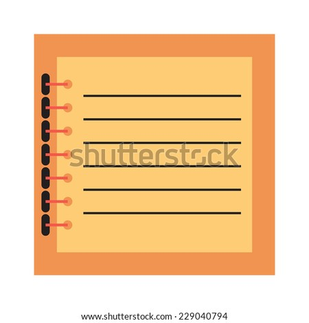 Notebook.Vector illustration