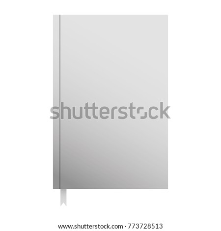 Notebook Bookmark Template Blank Corporate Stationery Stock Vector