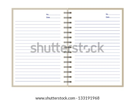 Notebook with lines for writing - stock vector