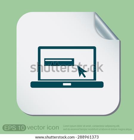 Notebook Symbol Web Arrow Stock Vector 288961373 Shutterstock