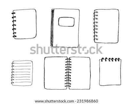 Notebooks set vector  - stock vector