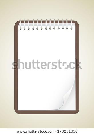 Notepad - stock vector