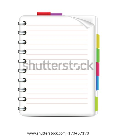 Notepad - stock vector