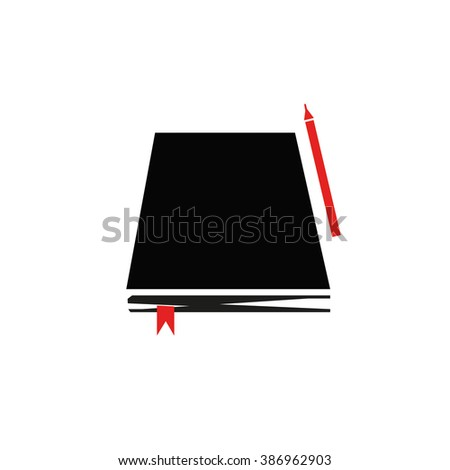 Notepad/Book and Pen/Pencil isolated on white background.