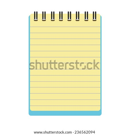 notepad notebook vector  - stock vector