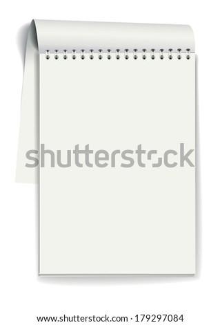 Notepad. Vector illustration - stock vector
