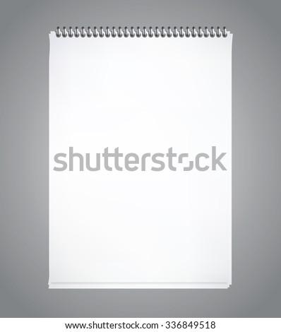Notepad vertycal blank, vector eps10 illustration - stock vector