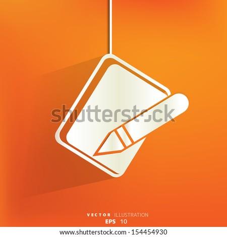 Notepad web icon,flat design - stock vector