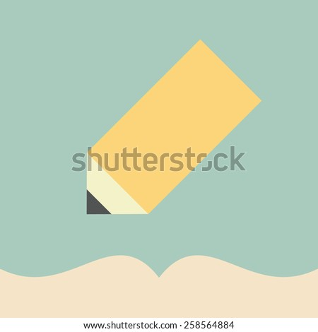 Notepad with pencil icon - stock vector
