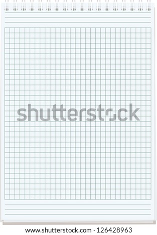 notepads. Blank sheet of paper for notes isolated on white