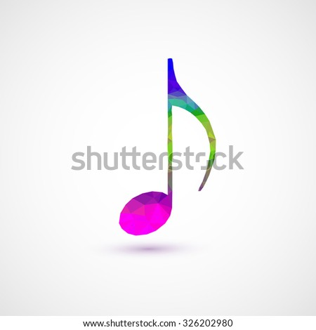 notes abstract musical background easy editable - stock vector