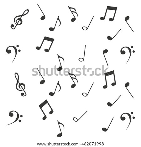notes music sheet pattern icon vector illustration design