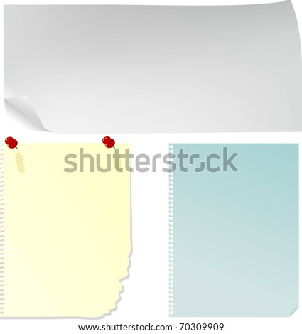 Notices - stock vector