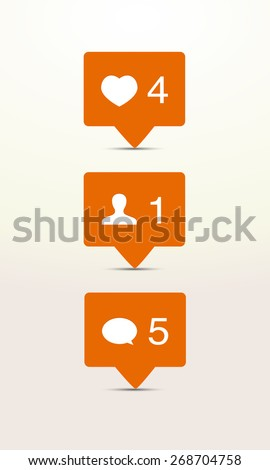 Notification icons vector illustration - stock vector
