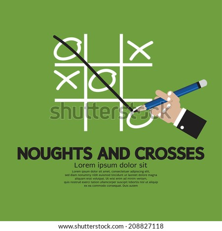 Noughts and Crosses Vector Illustration - stock vector