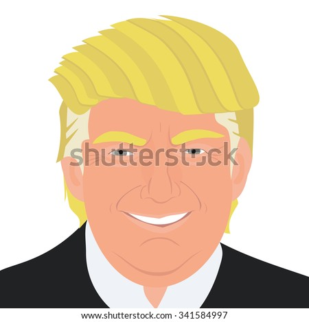 November 20, 2015: A vector illustration of a portrait of Republican Presidential Candidate Donald Trump