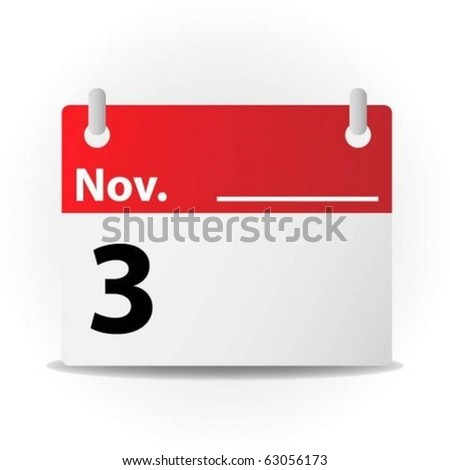 November calendar - stock vector