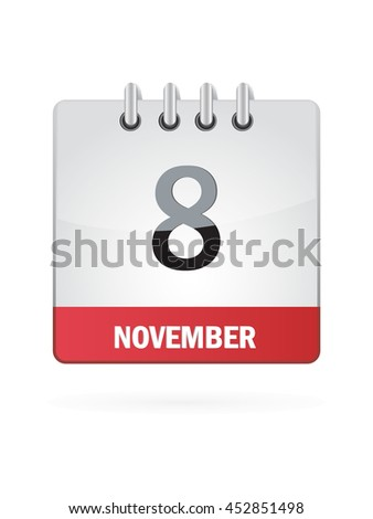 November Eight. Calendar Icon