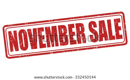 November sale grunge rubber stamp on white background, vector illustration - stock vector