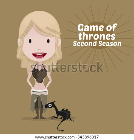 November 30, 2015: Vector illustration of Daenerys Targaryen (Game of thrones)