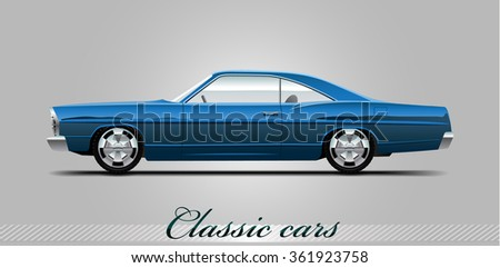NOVI SAD, SERBIA - JANUARY 06, 2016: Vector illustration of Chervolet Impala 1966,   eps10, vector, illustrative editorial - stock vector