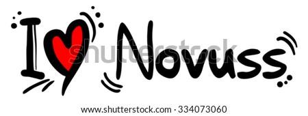 Novuss love - stock vector