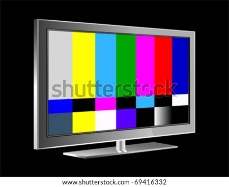 NTSC tv pattern signal for test purposes - stock vector