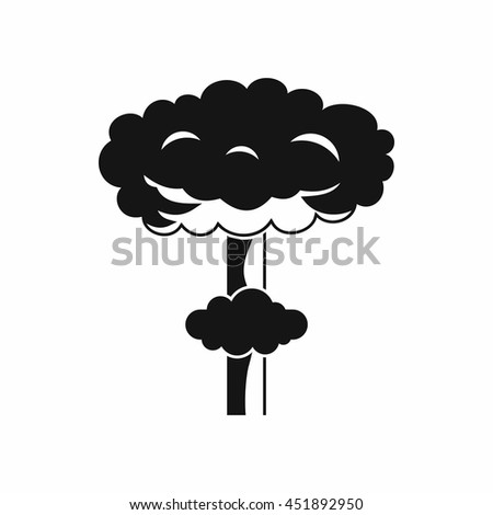 Nuclear explosion icon in simple style isolated vector illustration - stock vector