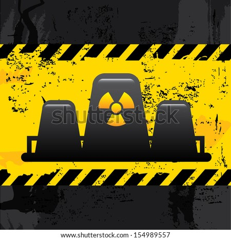 nuclear power over black  background vector illustration