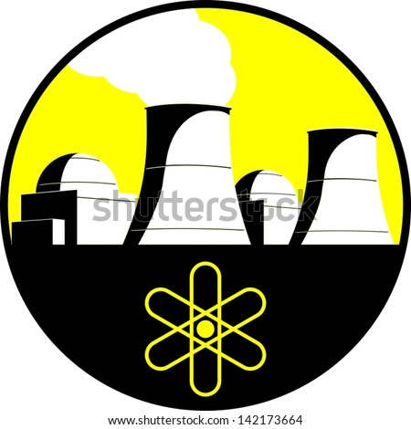 Nuclear power plant - stock vector