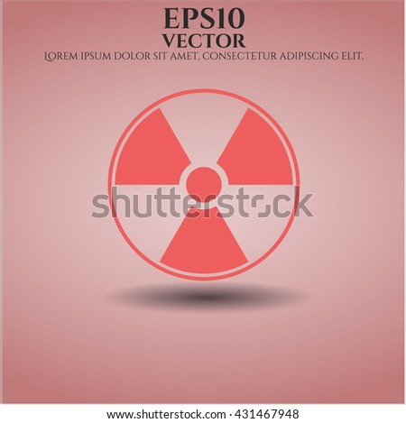 Nuclear, radioactive icon, Nuclear, radioactive icon vector, Nuclear, radioactive icon symbol, Nuclear, radioactive flat icon, Nuclear, radioactive icon eps, Nuclear, radioactive icon jpg - stock vector