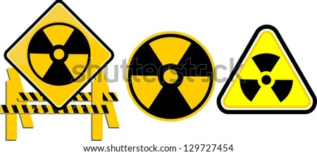 Nuclear sign representing the danger of radiation - stock vector