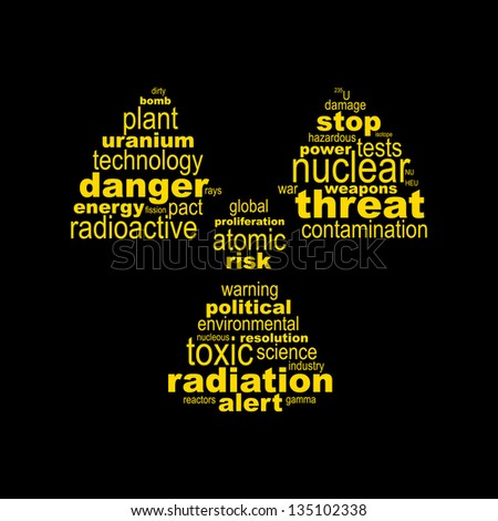 Nuclear symbol concept made with words - stock vectorNuclear Symbol Wallpaper