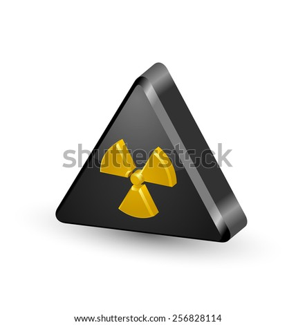 Nuclear symbol isolated on white background - stock vector