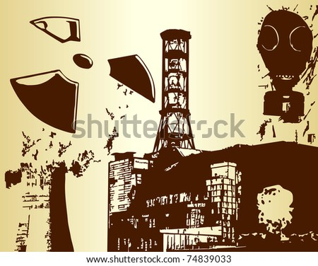 Nuclear world - stock vector