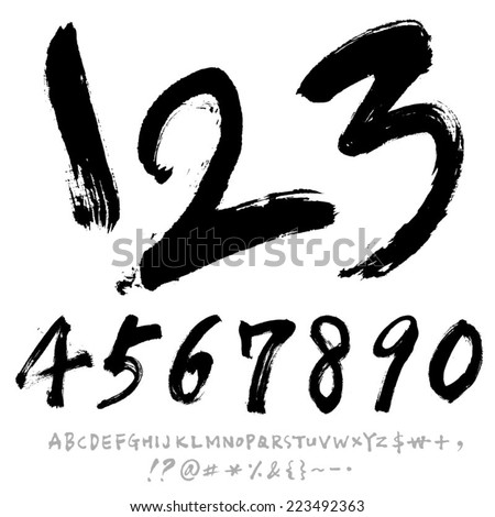 number and alphabet
